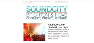 SoundCity Brighton enewsletter