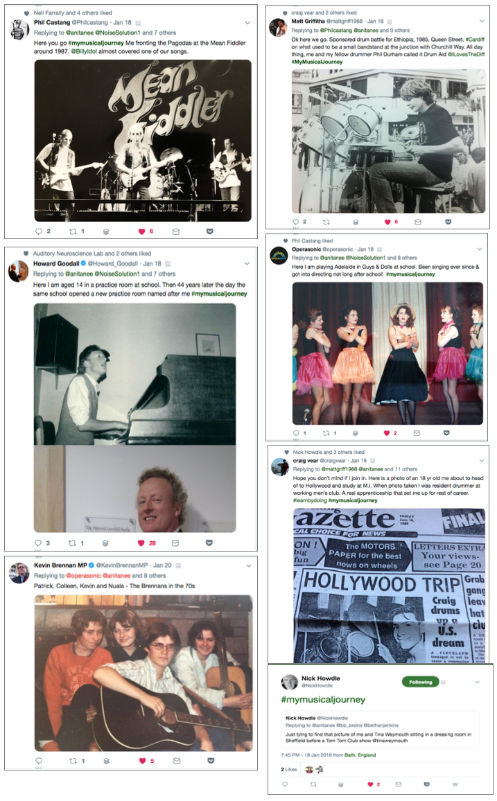 #mymusicaljourney collated tweets - first set
