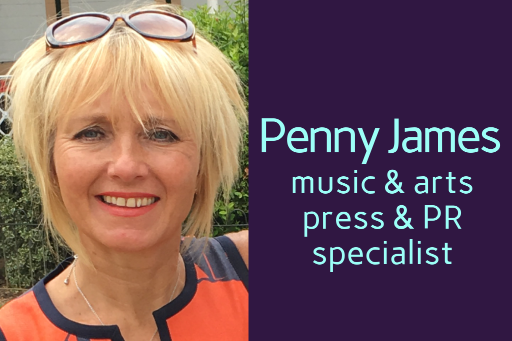 Penny James music and arts press & PR specialist