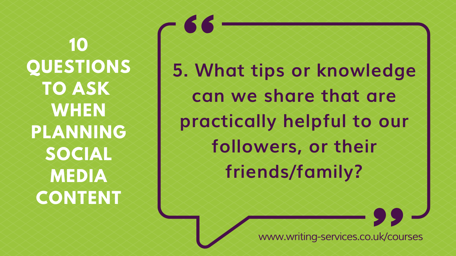 Social media tips 5