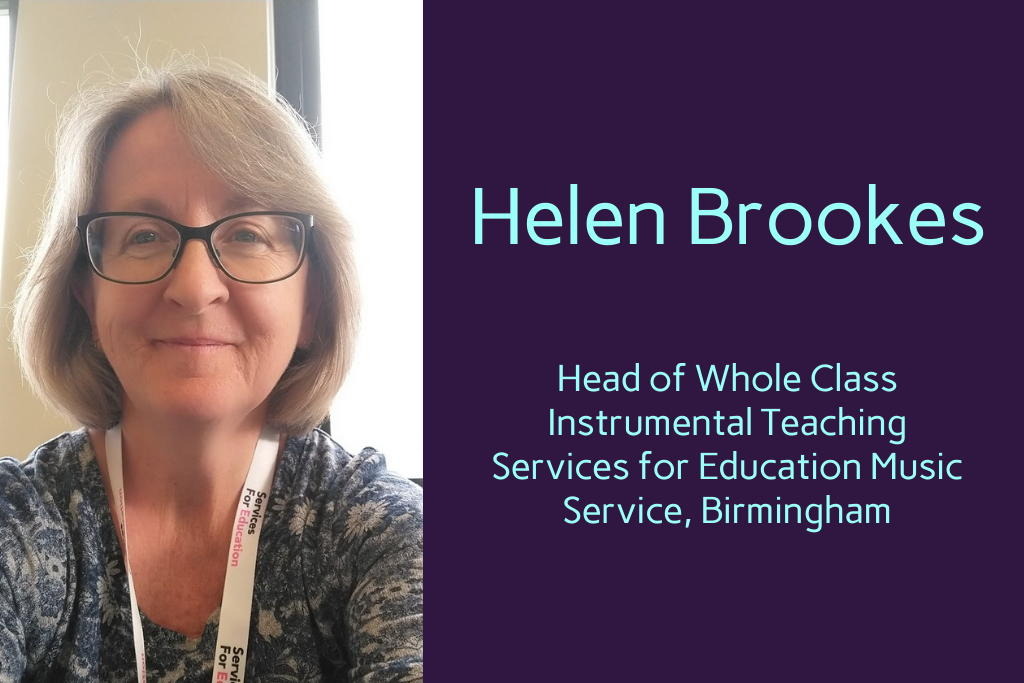 Helen Brookes, Services for Education Music Service, Birmingham